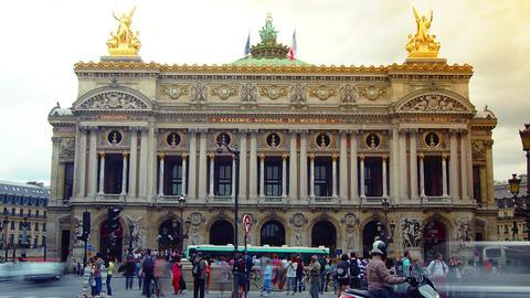 PARIS : rush hour in Paris,view of the Opera Garni Footage