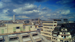 Scenes Of Daily Paris, Panoramic View From The Top stock footage