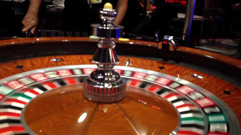 A shot of a casino roulette in motion inside starl Footage