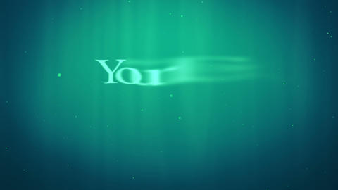 underwater text appearance After Effects Template