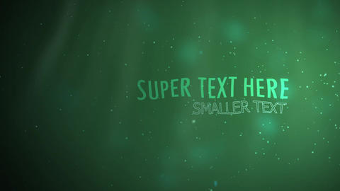 logo ae particles underwater After Effects Template