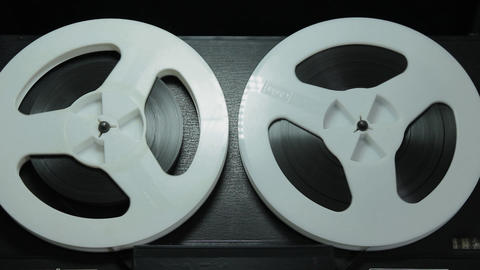 Ungraded: Reel-To-Reel Tape Recorder Playing Tape at Speed 9,53 сm/S Footage