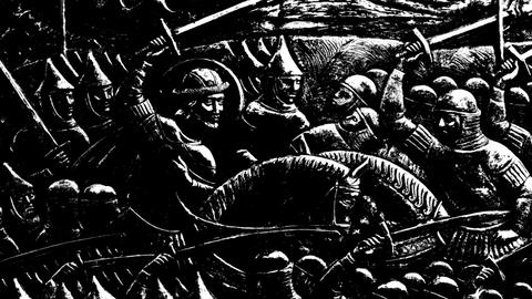 Warriors Black And White stock footage
