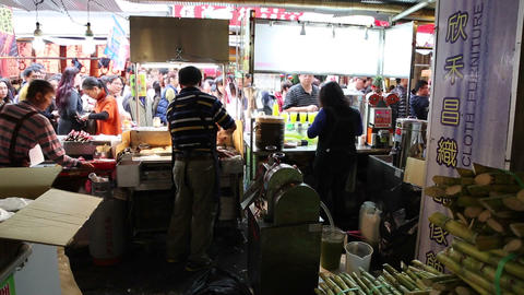 Ningxia night market - staff a cane sugar drink be Live Action