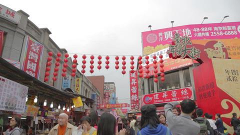 entrance - ningxia night market Chinese new year Live Action