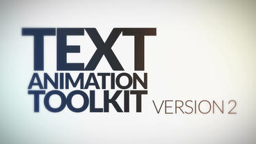 Text Animation Toolkit v. 2 After Effects Templates