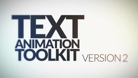 Text Animation Toolkit v. 2 After Effects Template