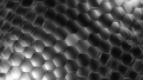 hard grayscale hexagon Animation