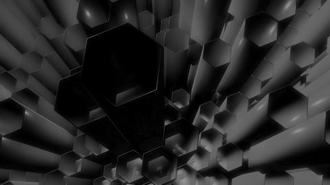 gray hexa tubes Animation