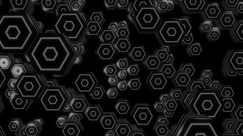 3d hexagonal white Animation