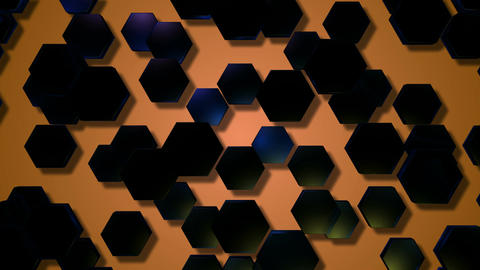 blue hexagonal shadow Animation