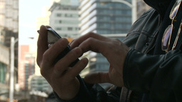 Male Hands With Cell Phone - 02 - Free Footage
