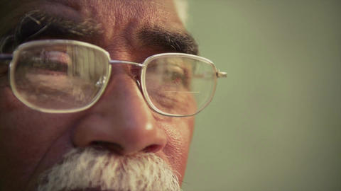 Portrait Of Serious Elderly Black Man With Glasses Footage