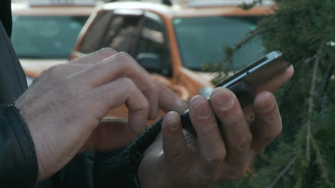 Male Hands With Cell Phone - 04 - Free Stock Video Footage