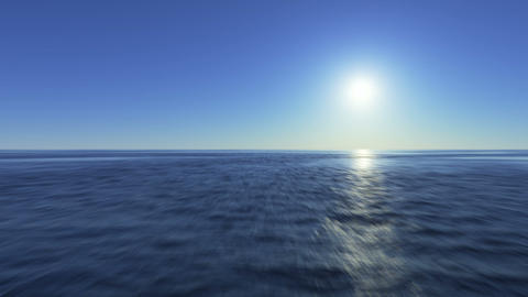 Quick Flight Over The Surface Of The Ocean stock footage