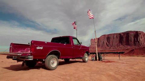 Truck Arizona Monument Valley Navajo Tribal Park U Footage