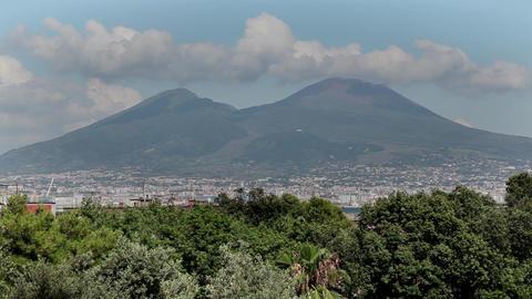 Mount Vesuvius Volcano In Naples Italy Footage