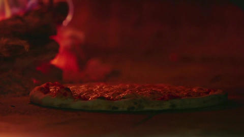 Traditional Italian Food Pizza Cooking Restaurant  stock footage