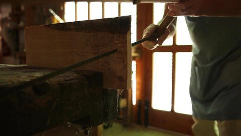 Carpenter at work Footage