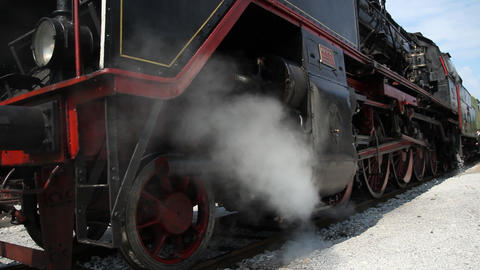 Steam Train In The Station stock footage