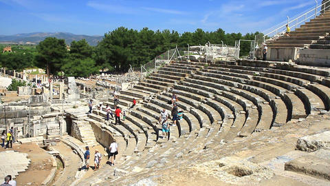 Ancient Theatre Stage Footage