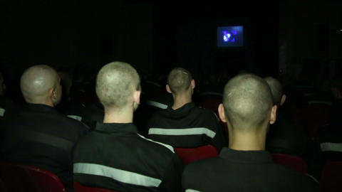 Convicted In The Auditorium Of The Prison Of The C stock footage