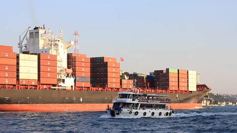Container Ship Footage