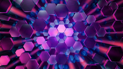 disco color hexagonal Animation