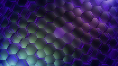 color spot hexagon Animation