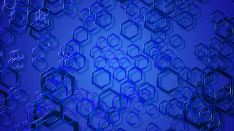 hexa blue glass Animation