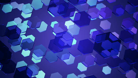 blue glowing hexagon Animation