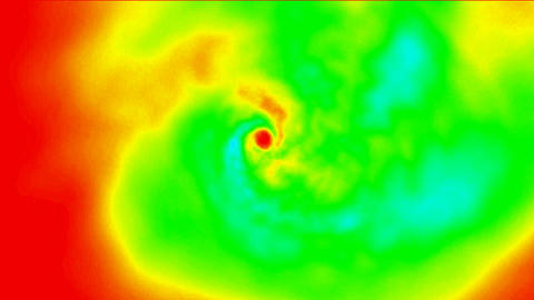 choas swirl in space,swirl fire... Stock Video Footage