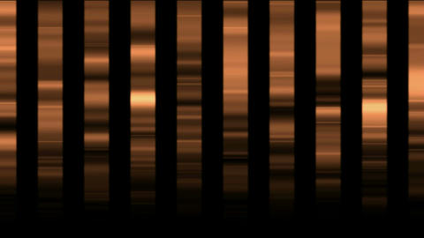 Animation of golden metal... Stock Video Footage