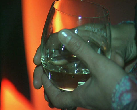 hands with wine glasses Stock Video Footage
