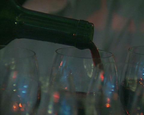 bottle wine Stock Video Footage