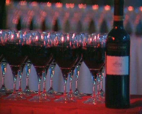 wine glasses Stock Video Footage