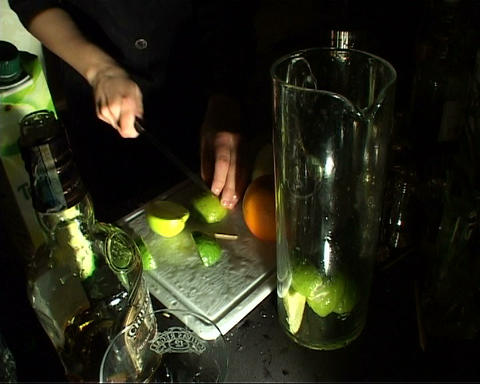 cocktail preparation Stock Video Footage