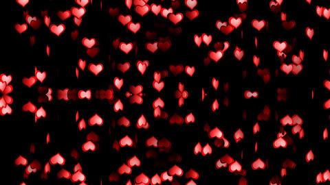 Hearts Mirror Alpha Stock Video Footage