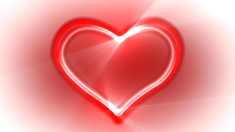 Heart Loop Neon 03 Stock Video Footage