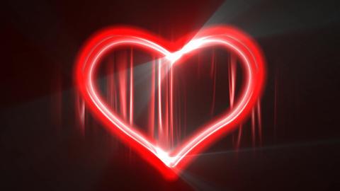 HeartNeon05 Stock Video Footage