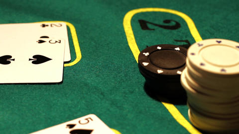 Poker 03 royal pan right Stock Video Footage