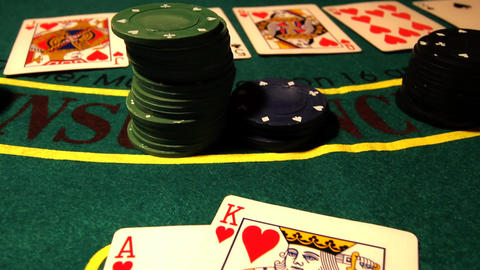 Poker 07 royal pans Stock Video Footage