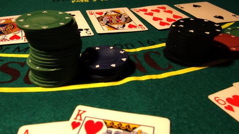 Poker 07 royal pans Stock Video Footage