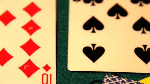Poker 12 dolly left Stock Video Footage