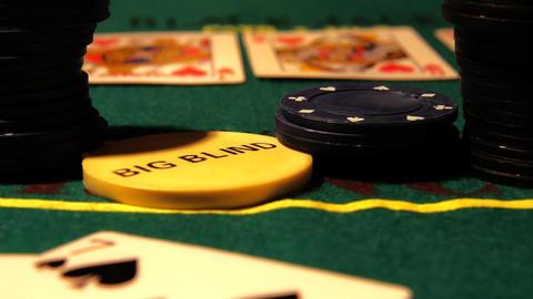 Poker 18 rack focus Stock Video Footage