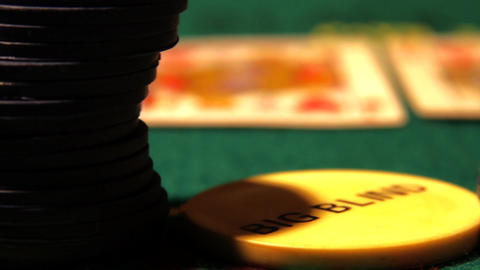 Poker 20 dolly right Stock Video Footage