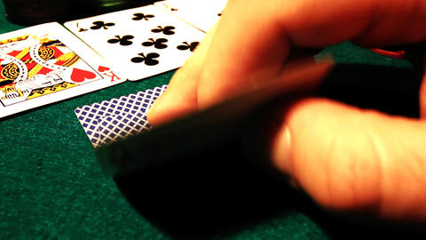 Poker 57 hesitate Stock Video Footage