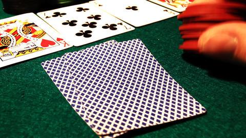 Poker 57 hesitate Stock Video Footage