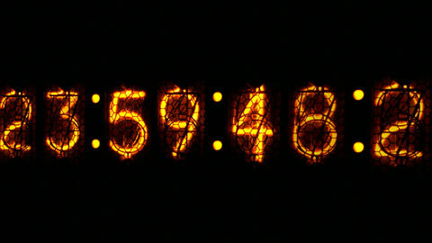 Nixie digital clock D1 Animation