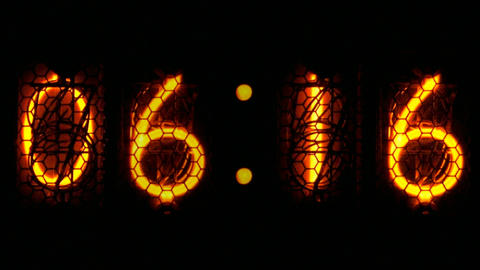 Nixie digital countdown D1 Stock Video Footage